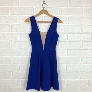 ASOS blue fit and flare dress NWT size 2